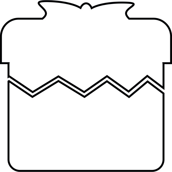christmas box icon outline style