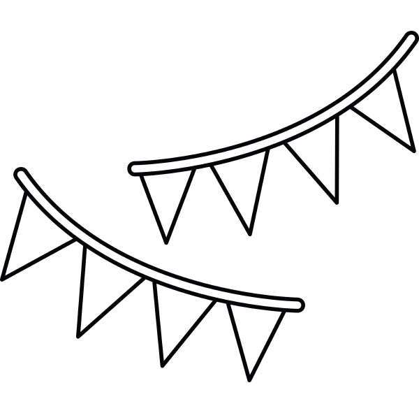 holiday flags icon outline style