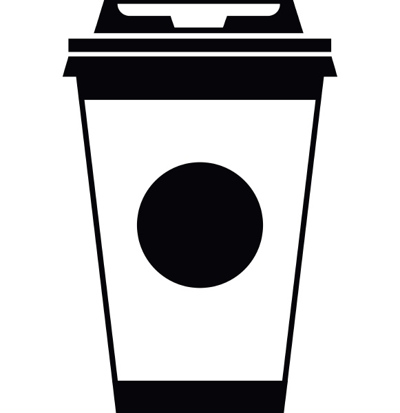 paper coffee cup icon simple style