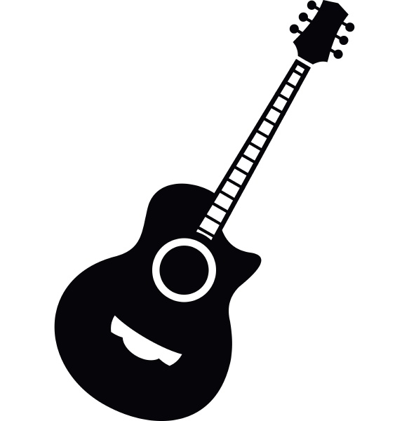 classical guitar icon simple style