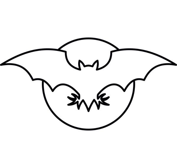 bat icon outline style