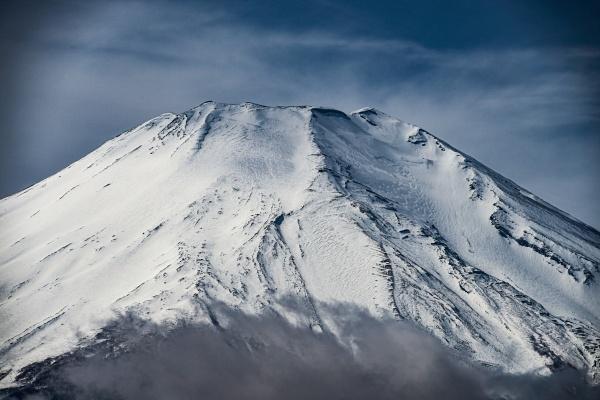 mount fuji and majestic sky taken