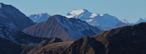 distant view of the diablerets glacier