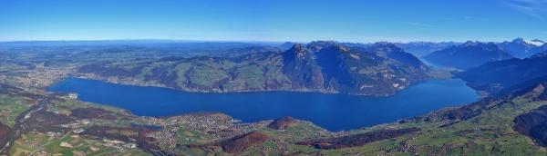 lake thunersee seen from mount niesen