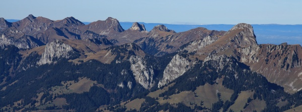 stockhorn and other mountains seen from