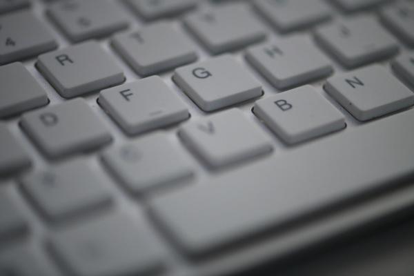 slim keyboard in dark night