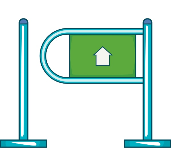 fencing system icon flat style