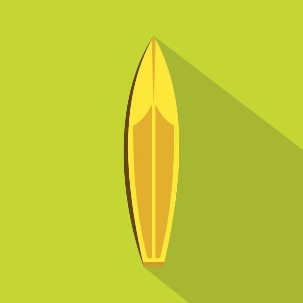 surfboard icon flat style