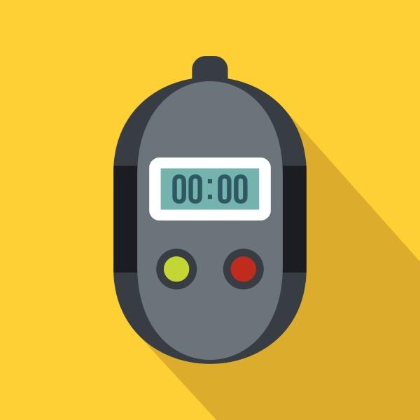 stopwatch icon flat style