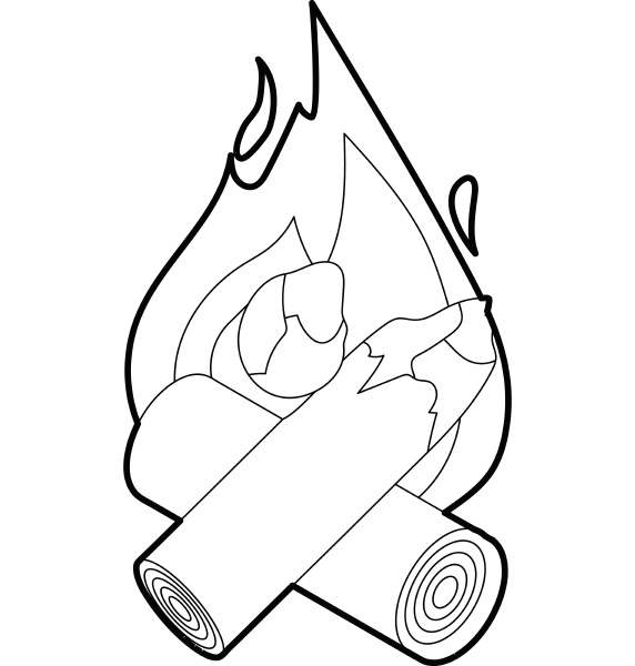 fire icon outline style