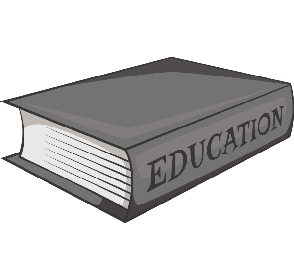 education book icon gray monochrome style