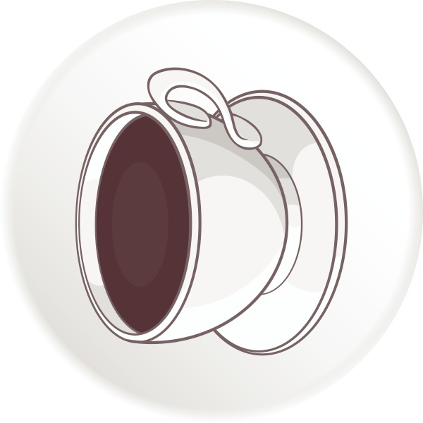 cup of coffee icon cartoon style