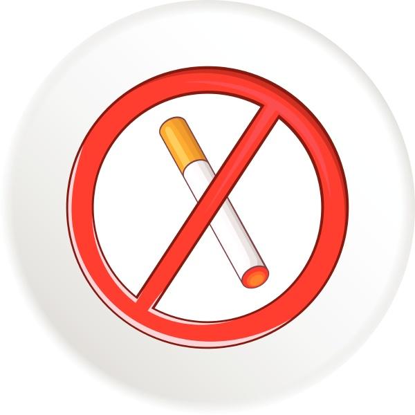 no smoking sign icon cartoon style