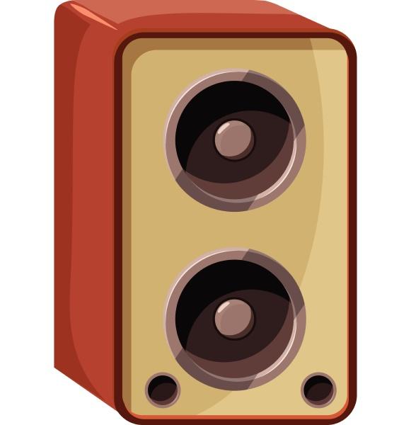 sound speaker icon isometric 3d style