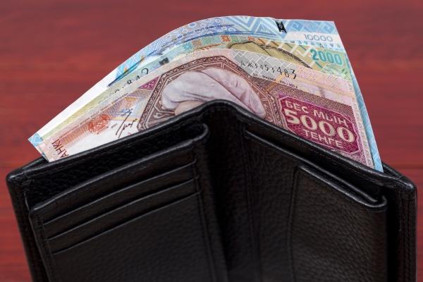 old kazakhstani money in the wallet
