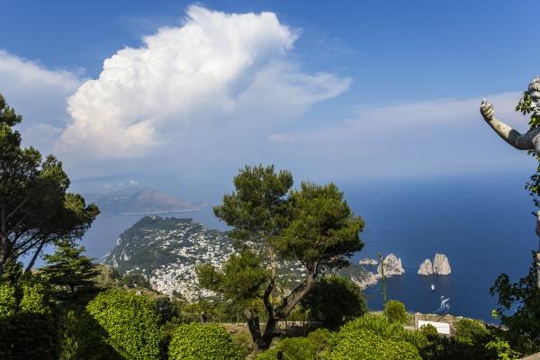 panorama of capri island from monte