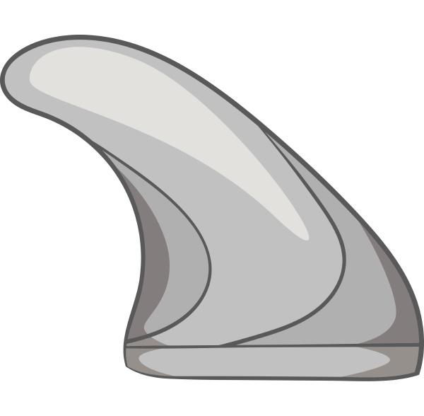 surfing fin icon gray monochrome style