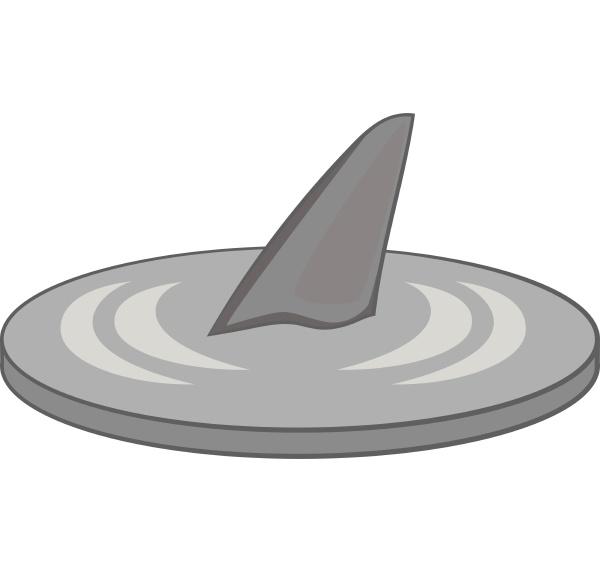 shark, fin, icon, , gray, monochrome, style - 30114759
