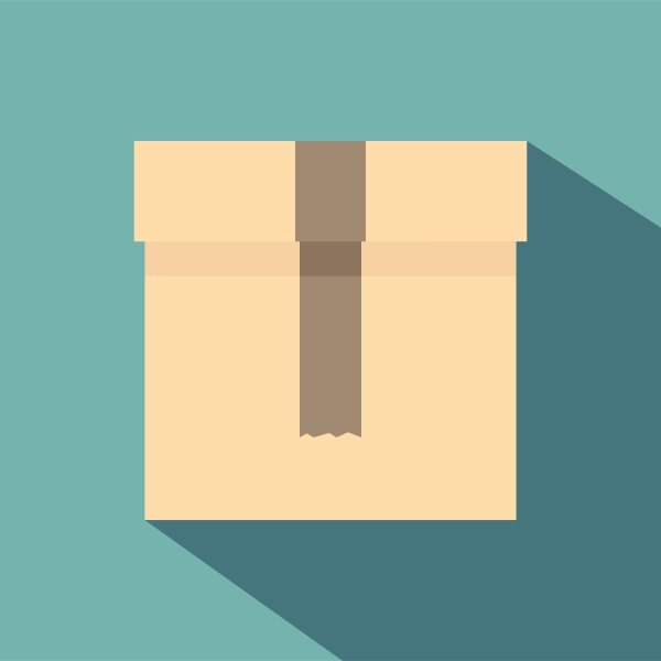 box icon flat style