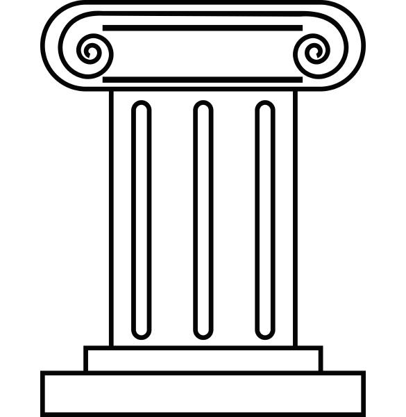 roman pillar icon outline style