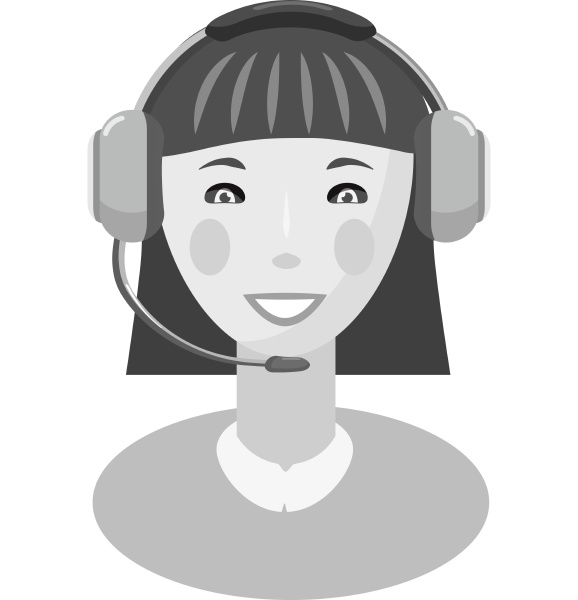 female consultant icon gray monochrome style