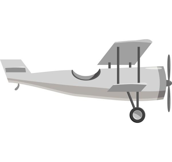biplane icon gray monochrome style