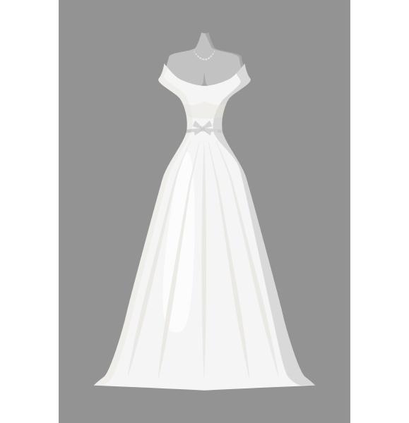 wedding dress icon gray monochrome style