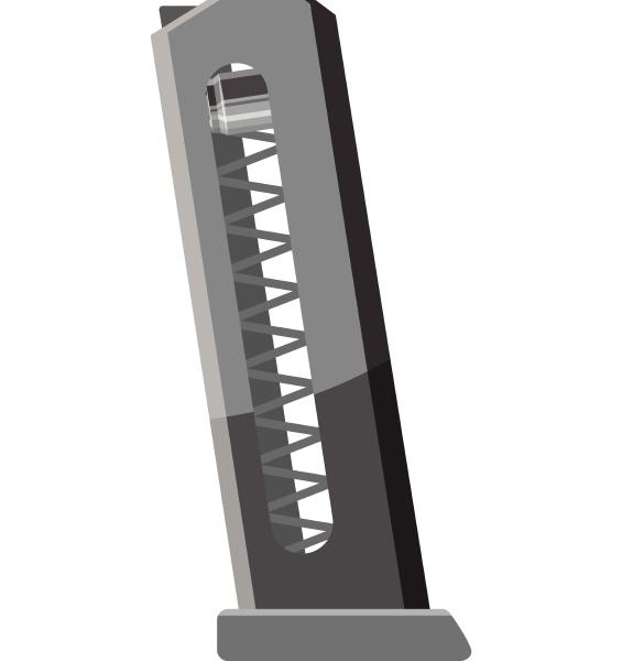 clip gun icon gray monochrome style