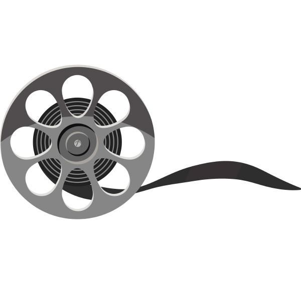 film icon gray monochrome style