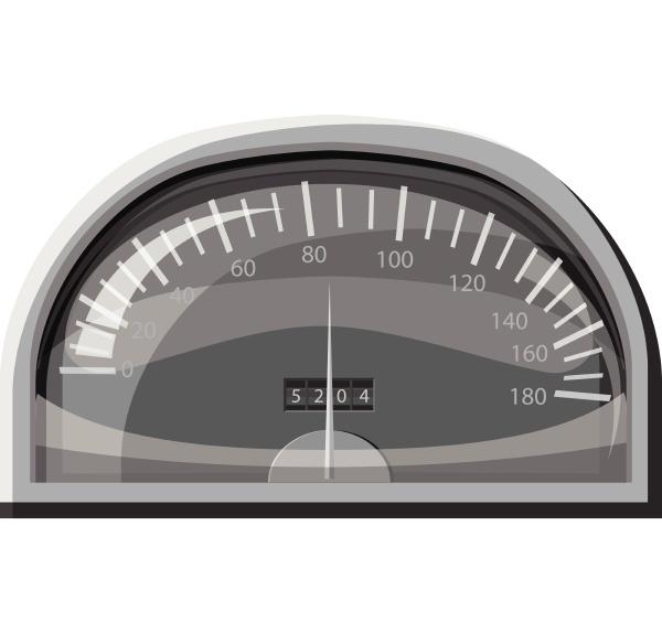 speedometer for cars icon gray monochrome