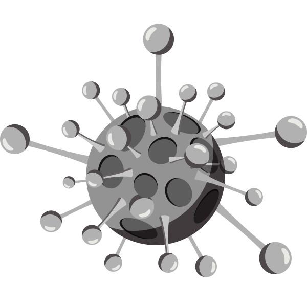 aids virus icon gray monochrome style