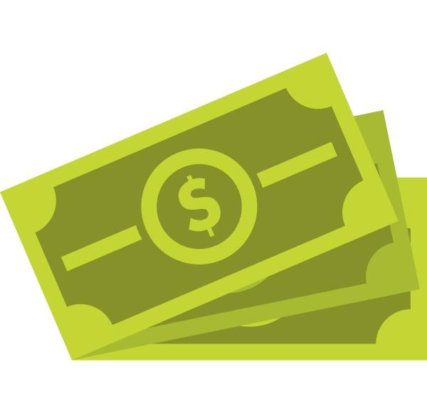 cash icon flat style