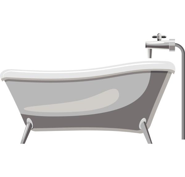 bathtub icon gray monochrome style