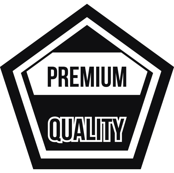 premium quality label icon simple style