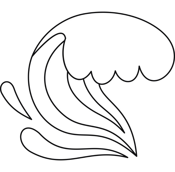 wave icon outline style