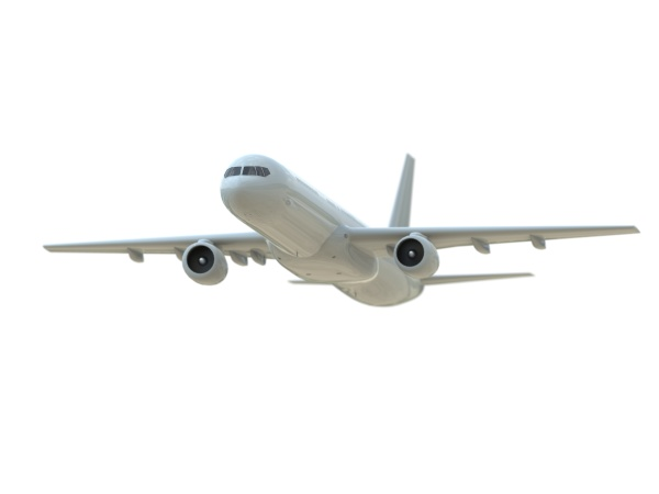 commercialpassenger plane in airon white aviation