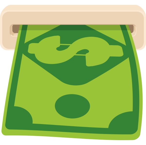 cash icon cartoon style