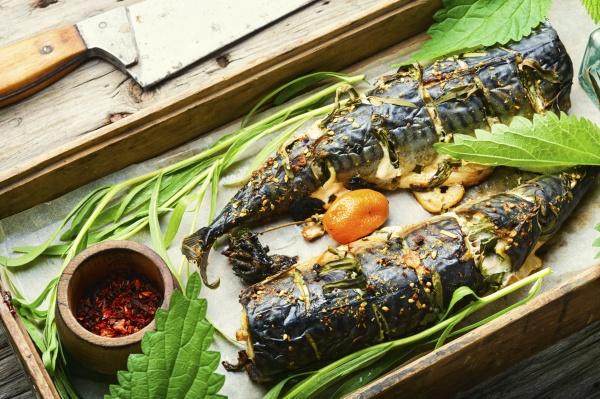 baked mackerel with herbs