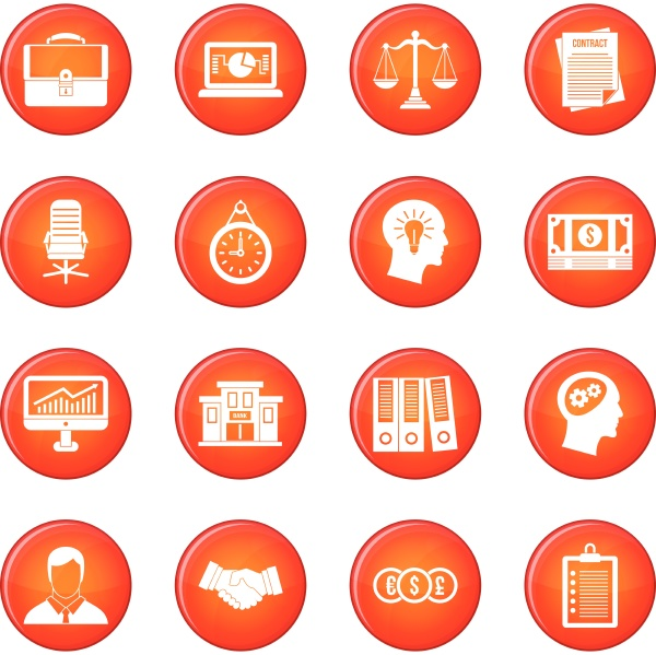 banking icons vector set