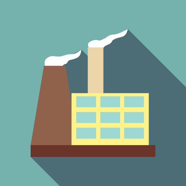 chemical warehouse icon flat style