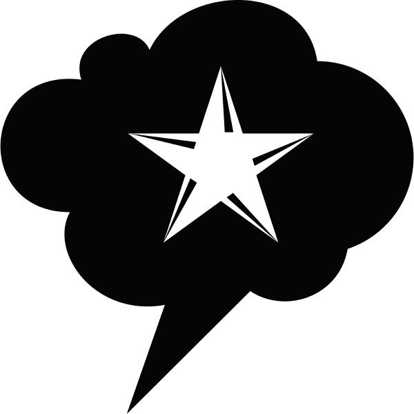 star bubble speech icon simple style