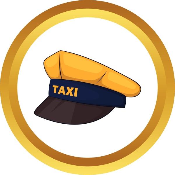cap taxi driver vector icon