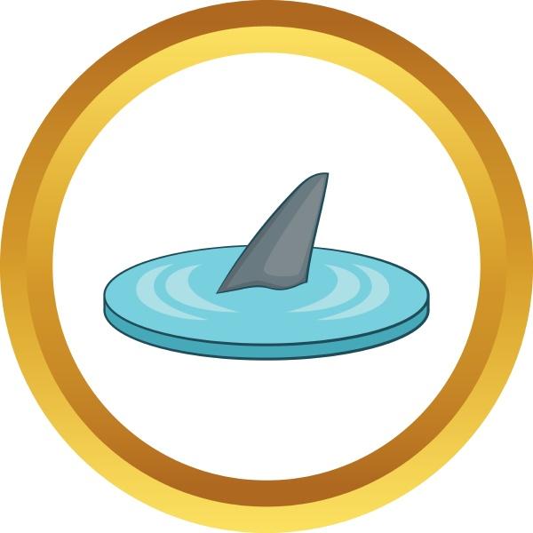 shark fin vector icon