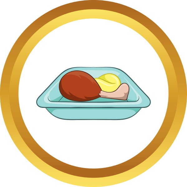 airplane lunch vector icon