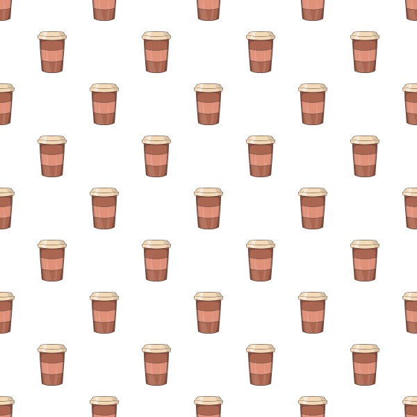 brown paper cup of coffee pattern