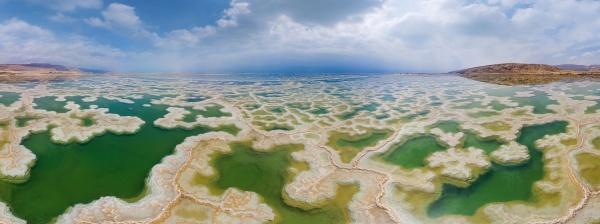 aerial view of dead sea ein