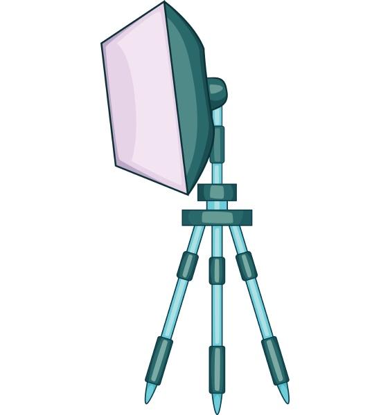 spotlight on tripod icon cartoon