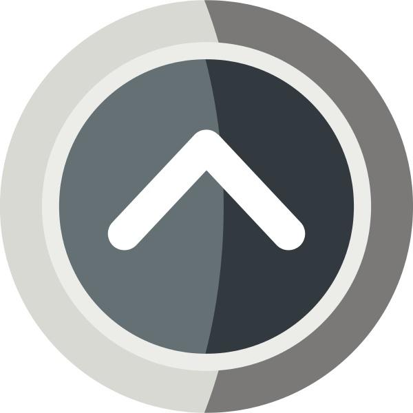 gray round button icon cartoon