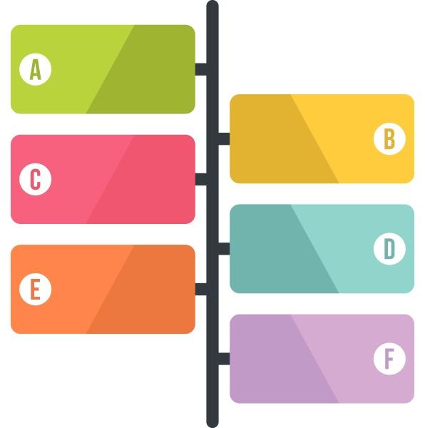 scheme infographics flat style