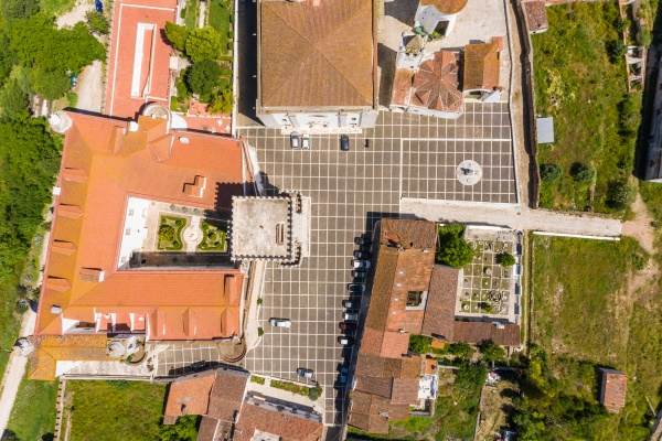 top down aerial view of estremoz
